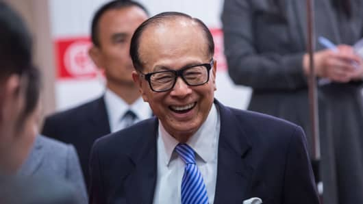 Billionaire Li Ka-shing, pictured in 2015.