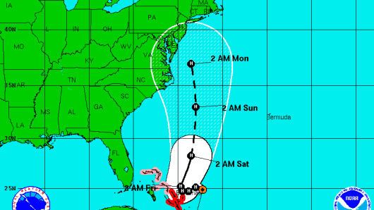 Hurricane Joaquin projected path as of Wed. Sept. 30th.