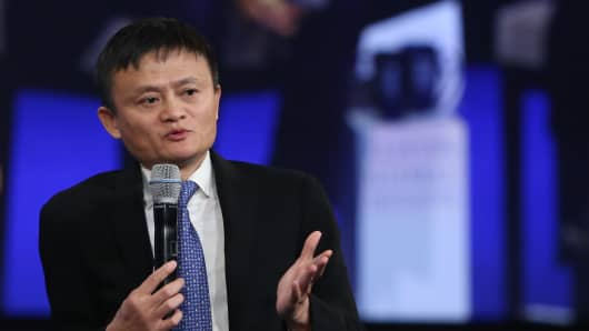 Jack Ma speaking at the 2015 CGI Annual Meeting in New York.