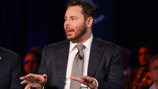 Sean Parker speaking at the 2015 CGI Annual Meeting in New York.