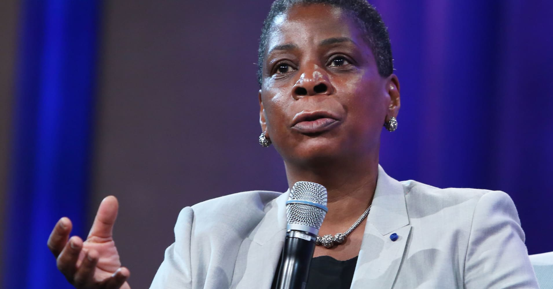 Ursula Burns, CEO of Xerox speaking at the 2105 CGI Annual Meeting in New York.