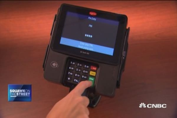 Credit card chip gains traction