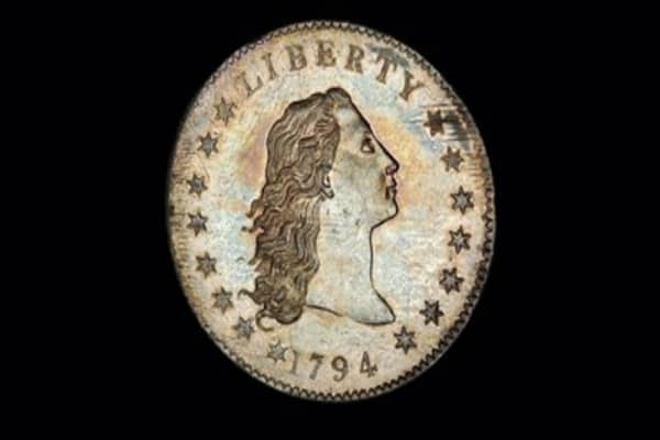 Rare silver dollar goes up for bid