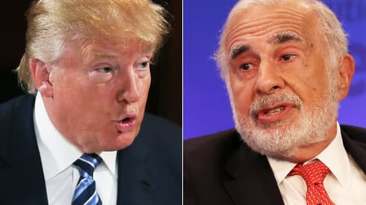 Donald Trump and Carl Icahn