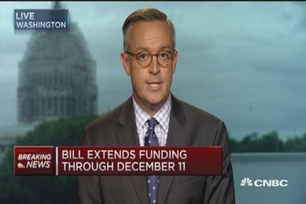Short-term funding bill passed