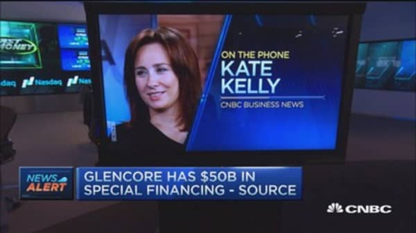Glencore has $50B in financing: Source
