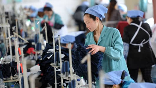 A Chinese denim factory