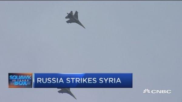 Russia raising stake in Syria airstrikes