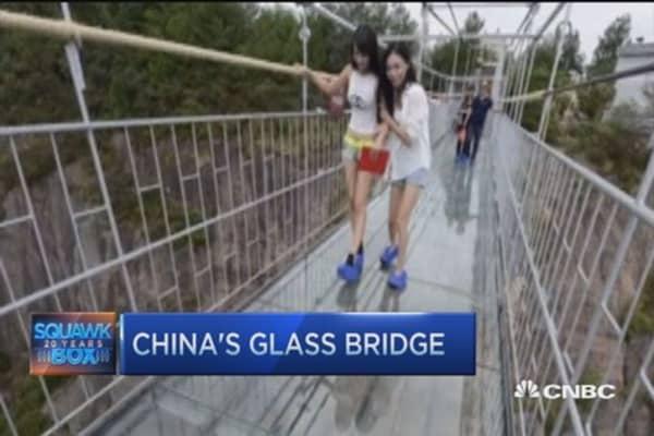 Would you cross China's glass bridge?