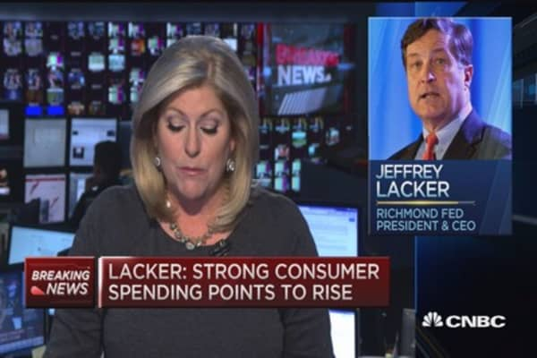 Lacker: October rate hike possible