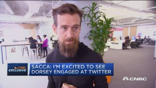 Highly confident Dorsey will be CEO: Sacca