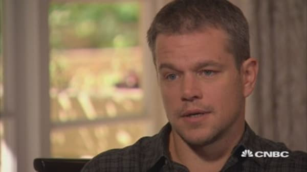 Matt Damon on making movies