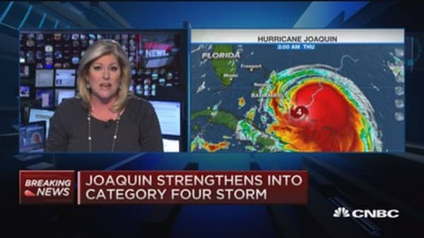 Hurricane Joaquin now category 4