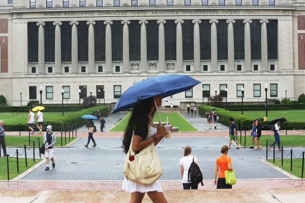 The campus of Columbia University in New York City