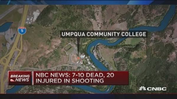 7-10 dead in Oregon shooting: NBC News