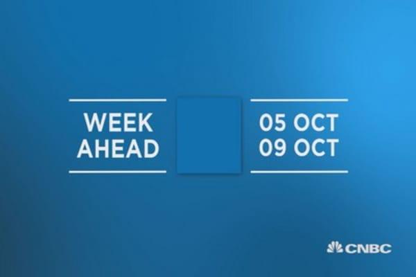 Week ahead 5th Oct