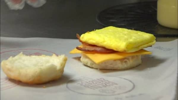 MCD's all day breakfast gets an early start