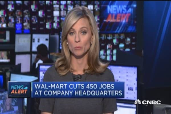 Wal-Mart to cut 450 jobs at its headquarters