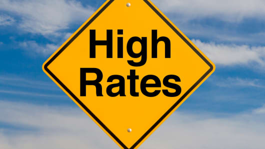 High rates sign