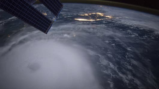 Hurricane Joaquin is seen over the Bahamas in this handout photo provided by NASA and taken by Astronaut Scott Kelly from the International Space Station, September 2, 2015.