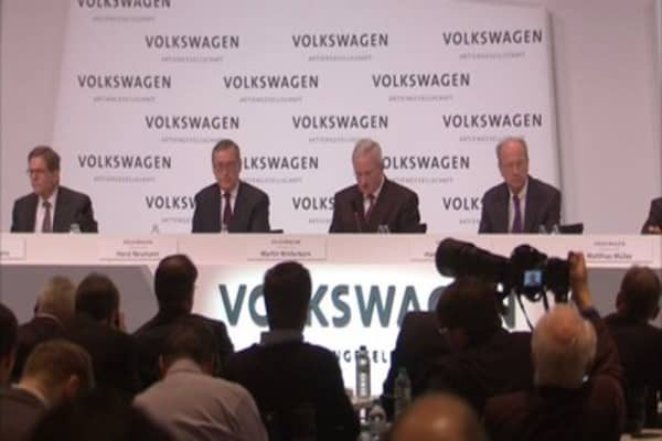 VW board huddles up