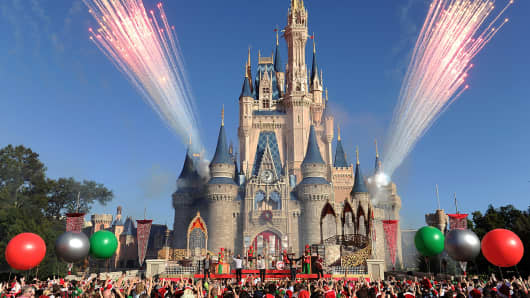 The Magic Kingdom park at Walt Disney World Resort in Lake Buena Vista, Florida.