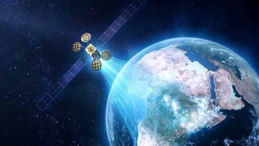 A rendering of a satellite called Amos-6, which Facebook says will provide internet coverage to large parts of Sub-Saharan Africa.