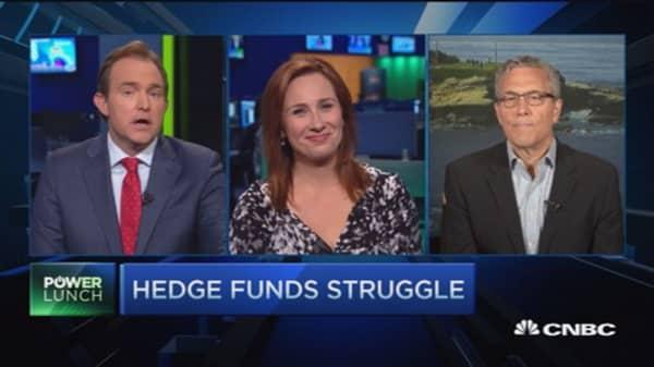 Hedge funds muddle along