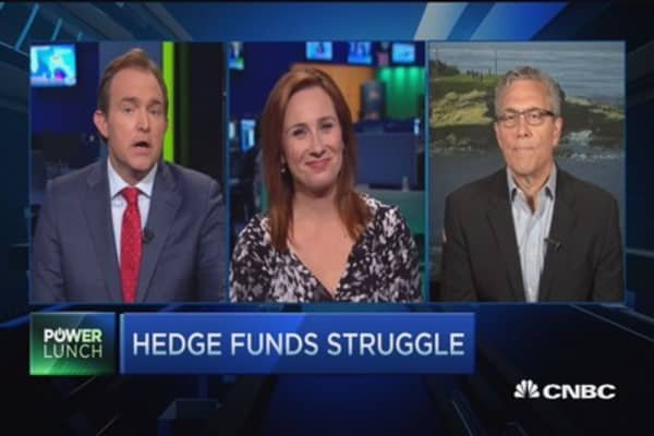 Hedge funds muddle along