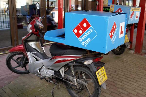 Domino's Pizza delivery motorbike.