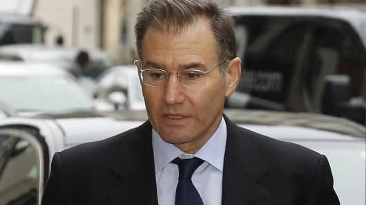 Ivan Glasenberg, billionaire and chief executive officer of Glencore Plc, arrives to attend the Africa Summit in London, U.K., on Monday, Oct. 5, 2015. Glencore Plc surged in London, following gains in Hong Kong trading as concerns around the company's stability eased after reports that it's talking to potential buyers for its agriculture business.