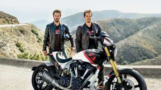 $150,000 Arch Motorcycle KRGT-1 motorcycle, and California road trip with actor Keanu Reeves.
