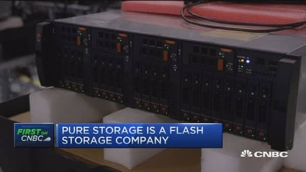 Pure Storage debuts at NYSE