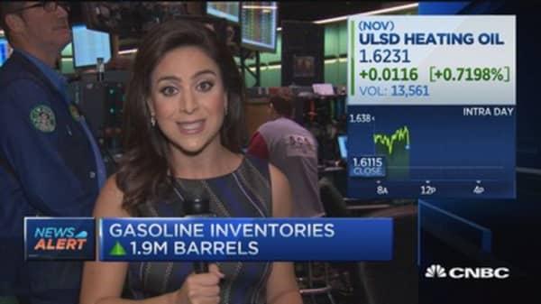 Crude oil inventories up 3.1M barrels