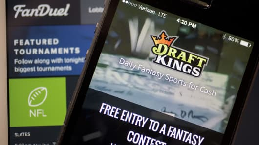 DraftKings and FanDuel displayed in different formats.