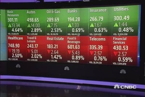 European stocks close flat; autos, miners outperform