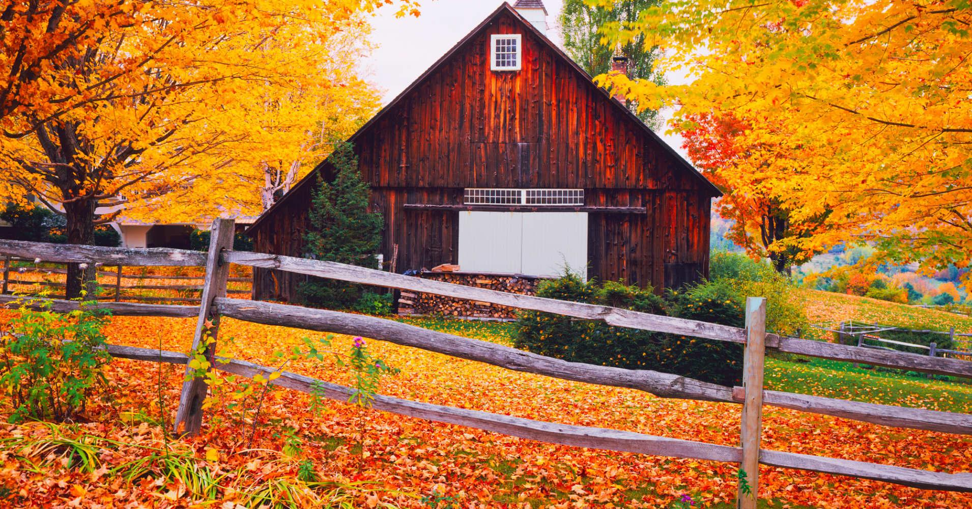 Autumn scene in Vermont.