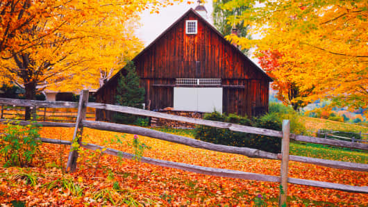 Autumn scene in Vermont.