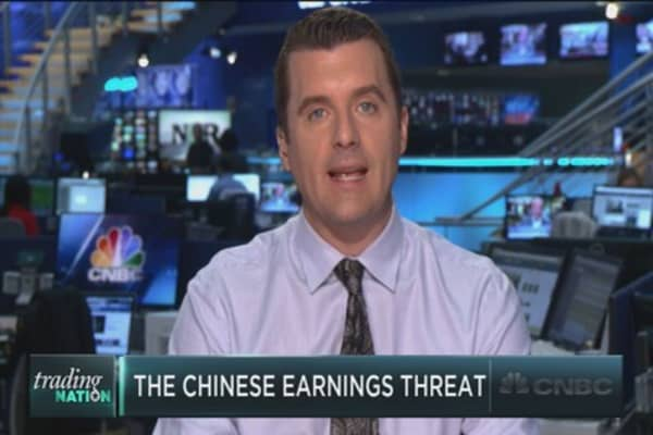 The China earnings threat