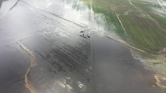 Flooding has devastated South Carolina croplands.
