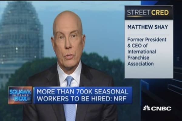 Holiday sales expected to rise 3.7% this year: NRF CEO