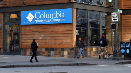 A Columbia Sportswear store in downtown Seattle, Washington.