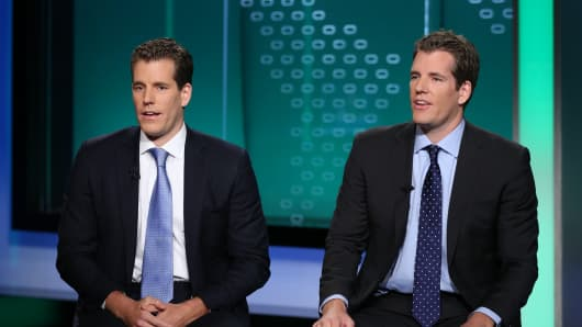 Cameron (left) and Tyler Winklevoss.