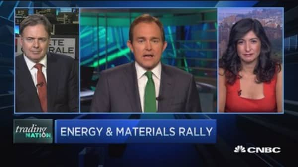 Trading Nation: Energy, materials surge