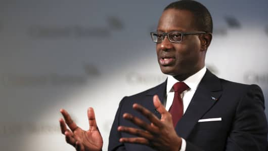 Tidjane Thiam, CEO of Credit Suisse.