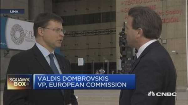 More work needed on EU financial system: Dombrovskis