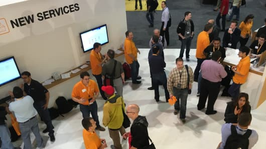 A scene at the AWS re:Invent conference earlier this week.