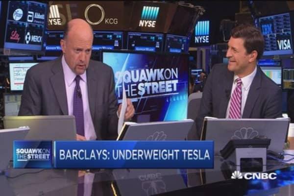 Cramer: Tesla downgrade more negative than realized