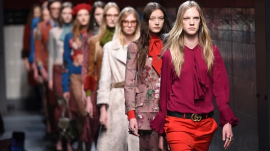 The Gucci fashion show at Milan Fashion Week.