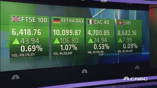 Europe ends higher, boosted by dovish central banks